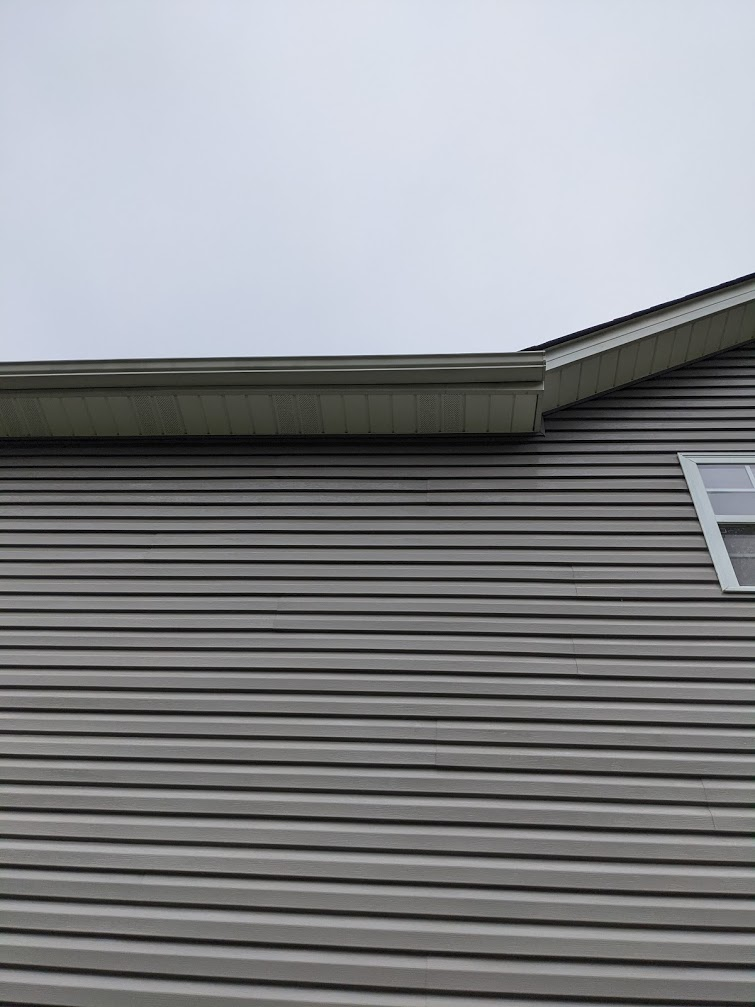 cleaning just the siding isnt enough, we like to go the extra step and insure your gutters and soffit is also clean