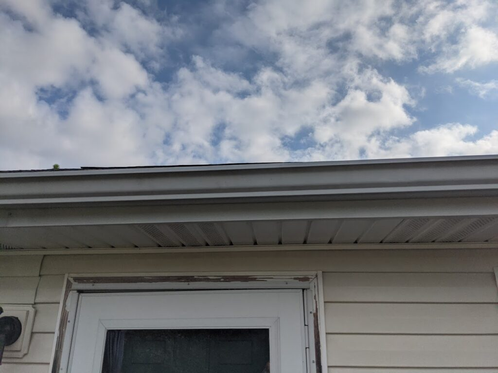 pressure washed gutters