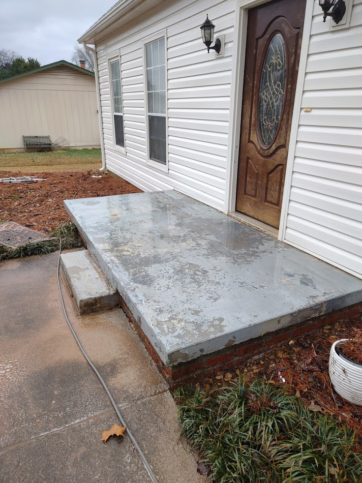Steps after being pressure washed to remove mold and algae